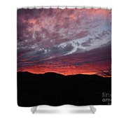 Red Cloud Sunset Shower Curtain