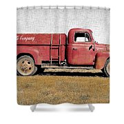 Red Coke Truck Shower Curtain