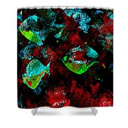 Red Coral Shower Curtain