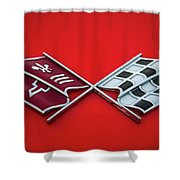 Red Corvette Shower Curtain