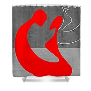 Red Couple Shower Curtain