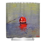 Red Crab Pot Float Shower Curtain