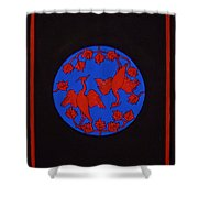 Red Cranes Shower Curtain