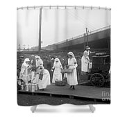 Red Cross: Canteen, C1918 Shower Curtain