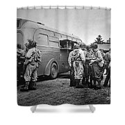Red Cross: Clubmobile Shower Curtain