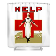Red Cross Nurse - Help Shower Curtain