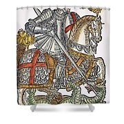 Red Cross Knight, 1598 Shower Curtain