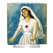 Red Cross Nurse - Ww1 Shower Curtain