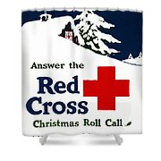 Red Cross Poster, C1915 Shower Curtain