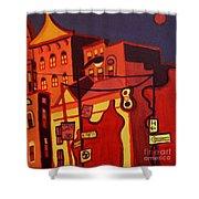 Red Cruising Baltimore Shower Curtain