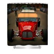Red Custom Classic Shower Curtain