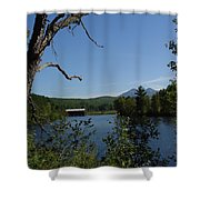 Red Dam In Spring Shower Curtain