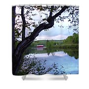 Red Dam In Summer #1 Shower Curtain
