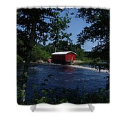 Red Dam In Summer #2 Shower Curtain