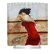 Red Dancer Shower Curtain