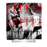 Red Dancers Shower Curtain