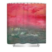 Red Dawn Shower Curtain by KR Moehr