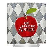 Red Delicious Apples Shower Curtain