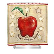 Red Delicious Two Shower Curtain