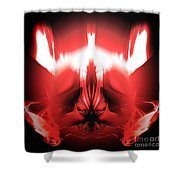 Red Descent Shower Curtain