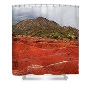 Red Desert Landscape Torotoro National Park Bolivia Shower Curtain