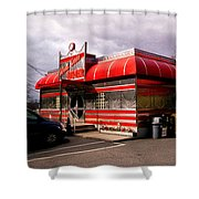Red Diner Shower Curtain
