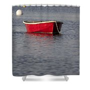 Red Dingy - Rye Harbor New Hampshire Usa Shower Curtain