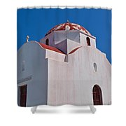 Red Domed Church Shower Curtain