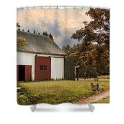 Red Door Farm Shower Curtain