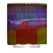 Red Dragon Autumn Shower Curtain