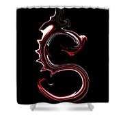 Red Dragon Serpent Named S Shower Curtain