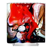 Red Drape Shower Curtain