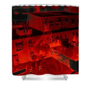 Red Dream Shower Curtain