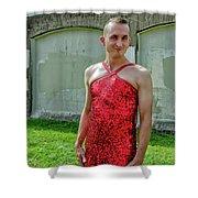 Red Dress Run - Nola 7 Shower Curtain