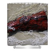 Red Drifter Shower Curtain