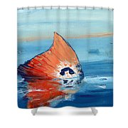 Red Drum Tailing Shower Curtain