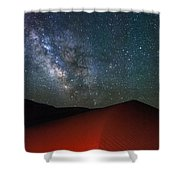 Red Dunes At Night Shower Curtain