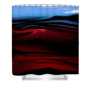 Red Dunes Shower Curtain