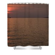 Red Dusk Over Pula Shower Curtain