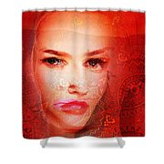 Red Dust Planet 6 Shower Curtain