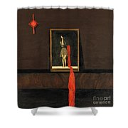 Red Echo Shower Curtain