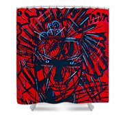 Red Exotica Shower Curtain