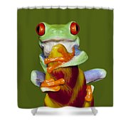Red Eyed Delight Shower Curtain