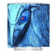 Red Eyed Raven Shower Curtain