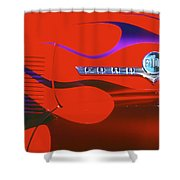 Red F-100 Shower Curtain