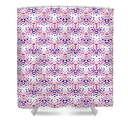 Red Fabric Pattern Shower Curtain