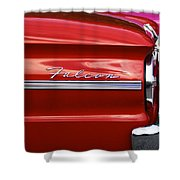 Red Falcon Shower Curtain