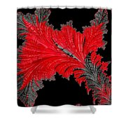 Red Feather - Abstract Shower Curtain