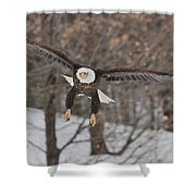 Red Feather Touchdown Shower Curtain