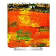 Red Fields Shower Curtain